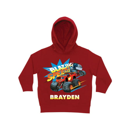 Personalized Blaze and the Monster Machines Blazing Red Toddler Boy Hoodie