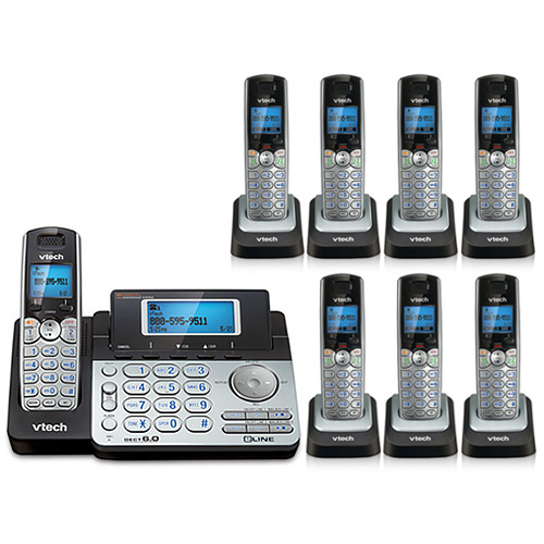 VTech DS6151 + (7) DS6101 2 Line Expandable cordless phone by VTech