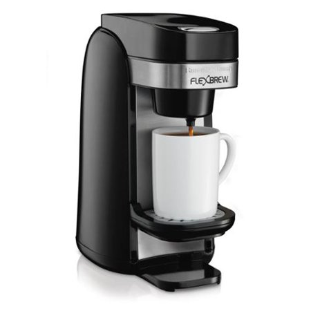 Hamilton Beach 49997 Single Serve Coffee Maker, Flexbrew Uses Ground or K-Cups - Walmart.com
