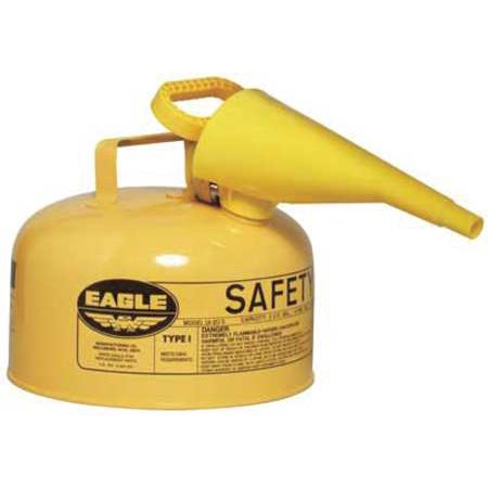EAGLE UI20FSY 2 gal. Yellow Galvanized Steel Type I Safety Can, For Diesel