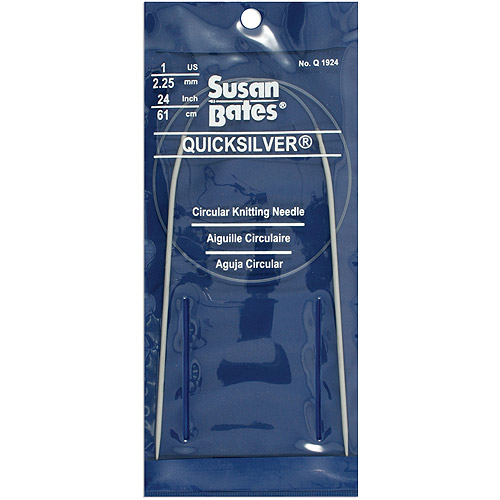 "Susan Bates Quicksilver 24"" Circular Knitting Needle"