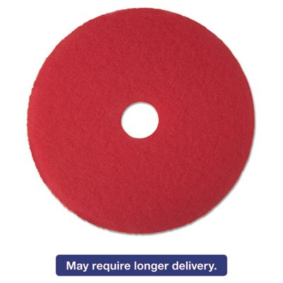"Low-Speed Buffer Floor Pads 5100, 13"" Diameter, Red, 5/carton"