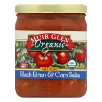 Muir Glen Black Bean & Corn Salsa Medium, 16 OZ (Pack of 6)