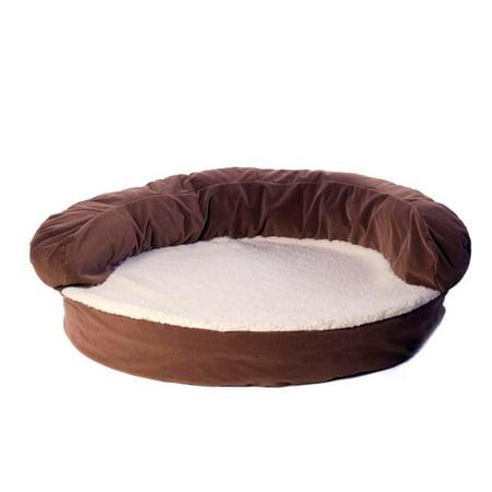 Carolina Pet 011220 Ortho Sleeper Bolster Bed - Chocolate, Large