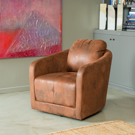 Sensational Noble House Canterbury Microfiber Swivel Chair Brown Pdpeps Interior Chair Design Pdpepsorg