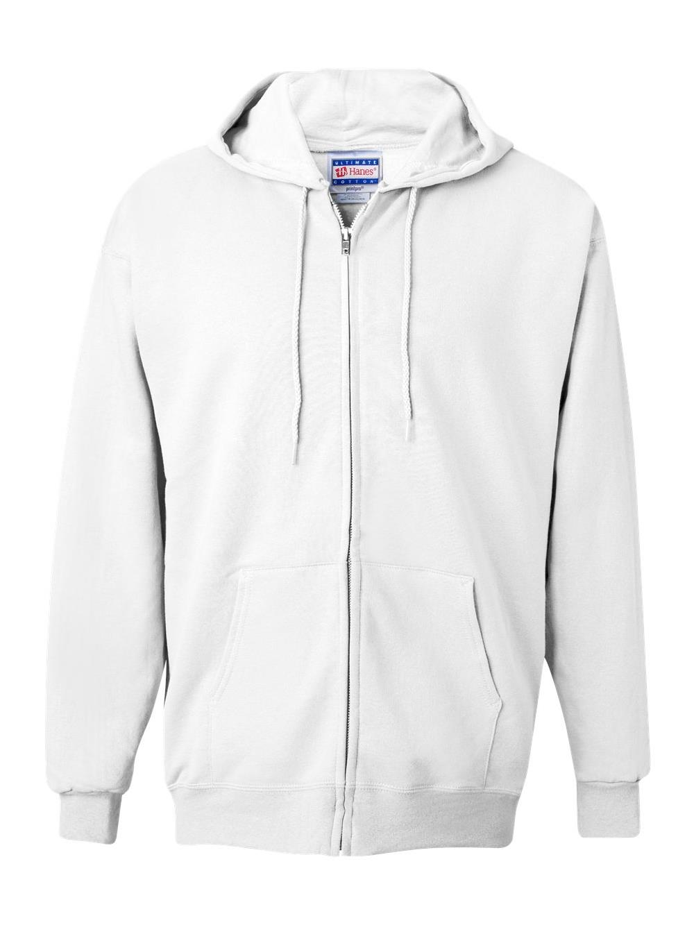 mens S-3XL Hanes PrintProXP Ultimate Cotton Full-Zip Hooded Sweatshirt F280