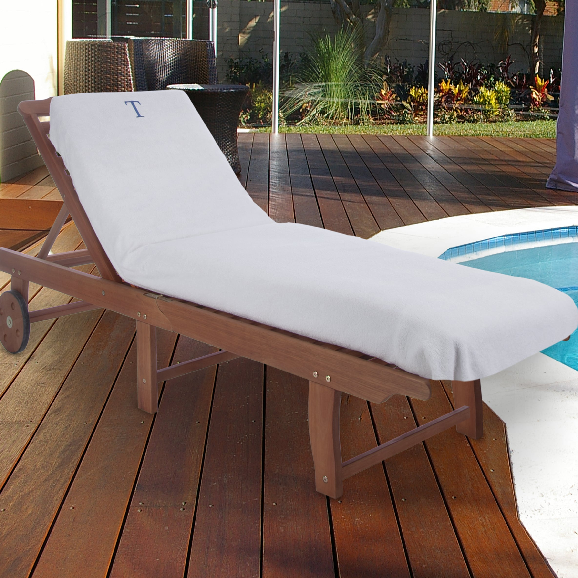Superior  100% Cotton Monogrammed Super-Absorbent Chaise ...