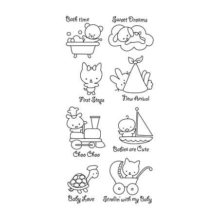 Clear Stamps: Baby Love By - Baby Footprint Stamp