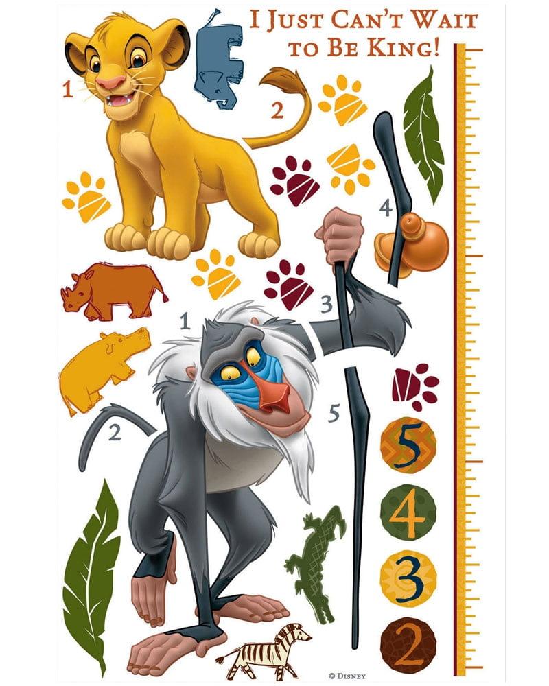 RoomMates The Lion King Rafiki Peel U0026 Stick Giant Growth Chart   Walmart.com