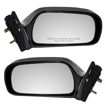 BROCK Power Side View Mirrors Non-Heated Pair Set Replacement for 97-01 Toyota Camry Japan 87940-33150-C0 (Toyota Camry Replacement Mirror)