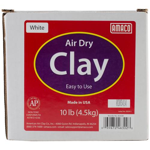 Air Dry Modeling Clay 10 Pounds-White