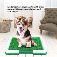 OTVIAP Dog Pet Potty Mat Grass Pad with Mesh+Collection Tray Home Indoor Restroom Toilet Pee Training, Potty Mat with Tray, Pet Toilet