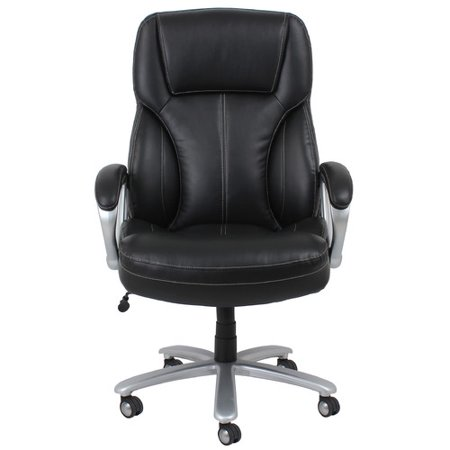 OFM Essentials Big and Tall Leather Executive Office Chair with Arms  Black  SilverOFM Essentials Big and Tall Leather Executive Office Chair with  . Silver Office Chair. Home Design Ideas