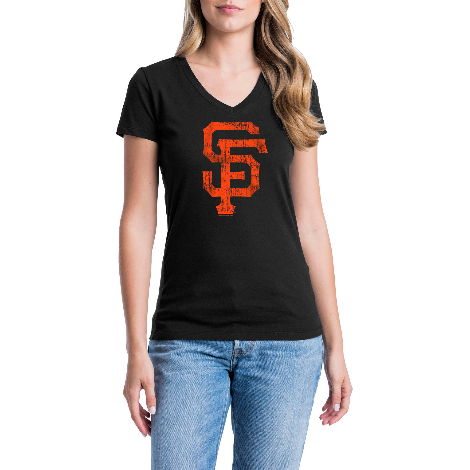 San Francisco Giants Womens Short Sleeve Graphic Tee