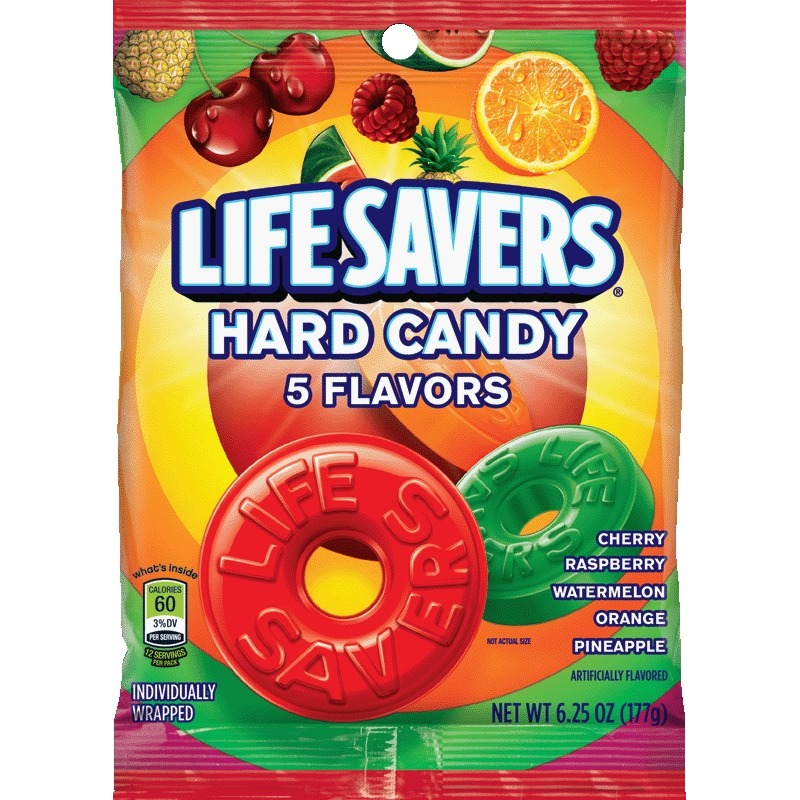 Life Savers 5 Flavors Hard Candy Bag, 6.25 Oz.