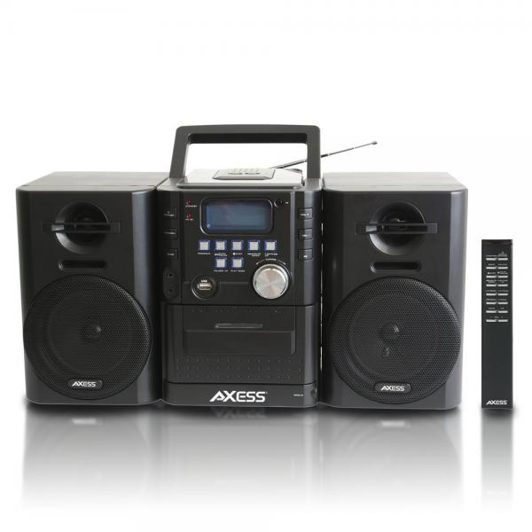 AXESS MS3912 Mini Entertainment System with AM FM, USB, CD, MP3 Player & Cassette Recorder With Headphone and... by Axess