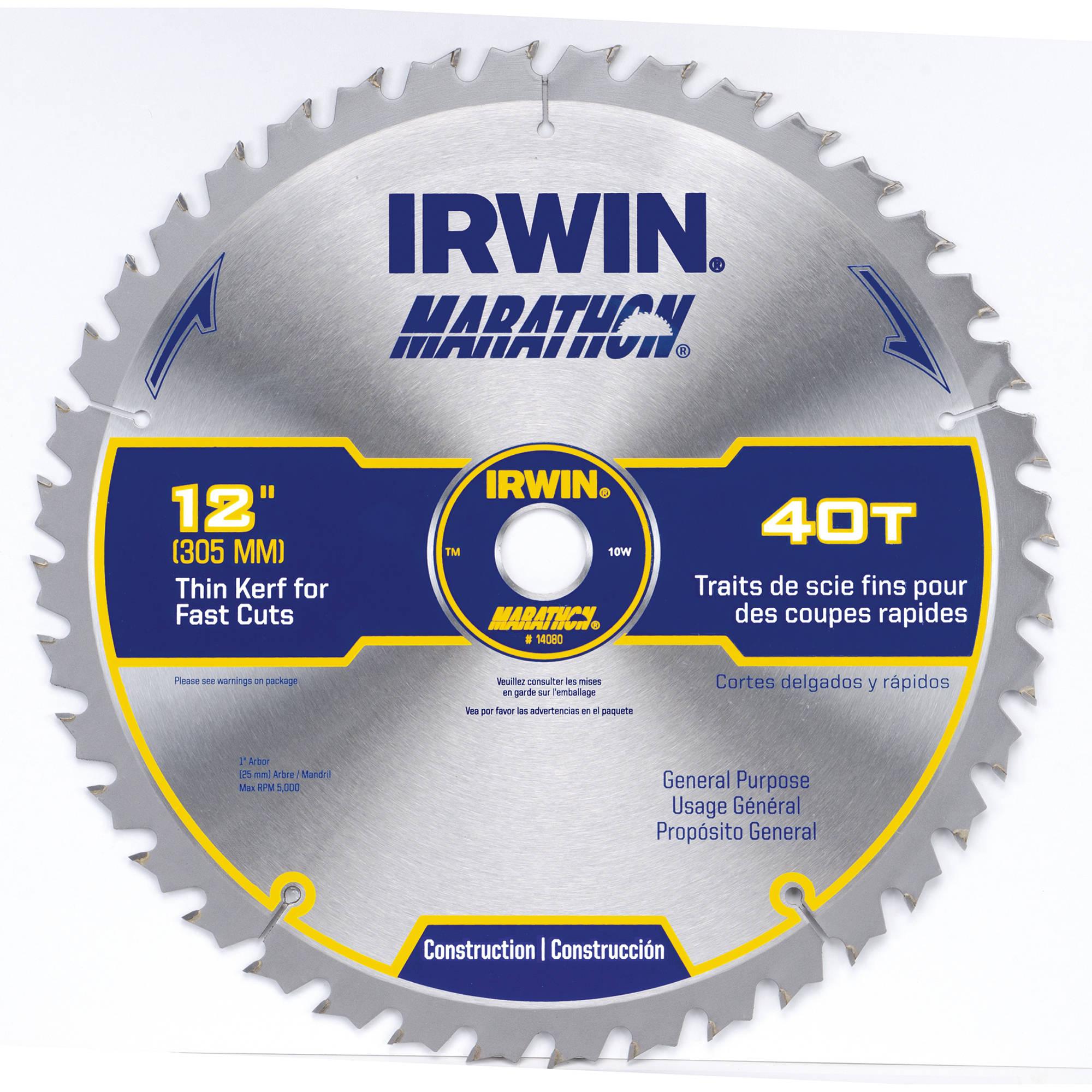 Irwin Marathon Miter/Table Saw Blade