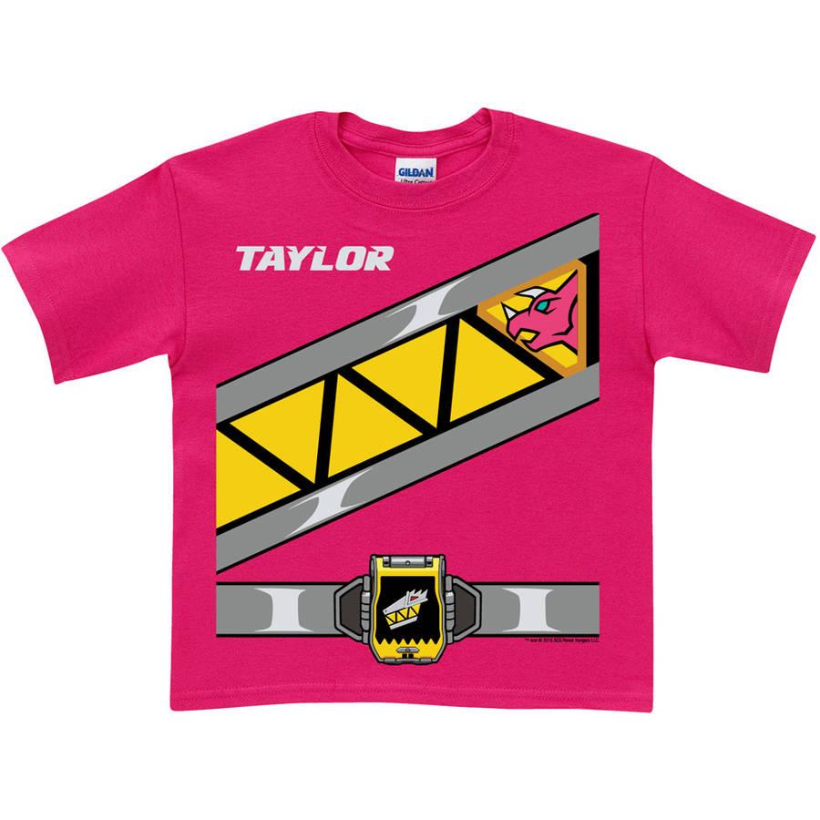 Personalized Power Rangers Dino Charge Toddler Girls' Pink Ranger T-Shirt