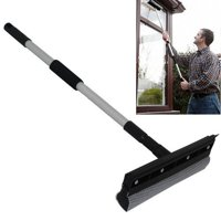 """Wideskall 24 - 38"""" inch Extendable Rubber Window Cleaning Squeegee & Sponge for Windshield"""