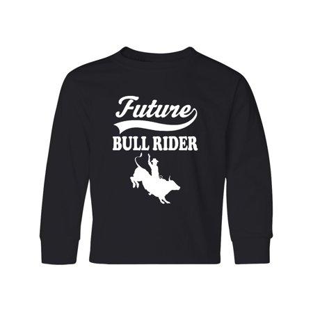 Long Sleeve Riding Shirt - Future Bull Rider Rodeo Riding Youth Long Sleeve T-Shirt