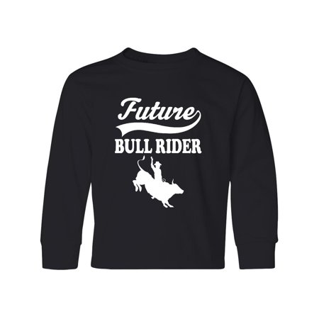 Future Bull Rider Rodeo Riding Youth Long Sleeve