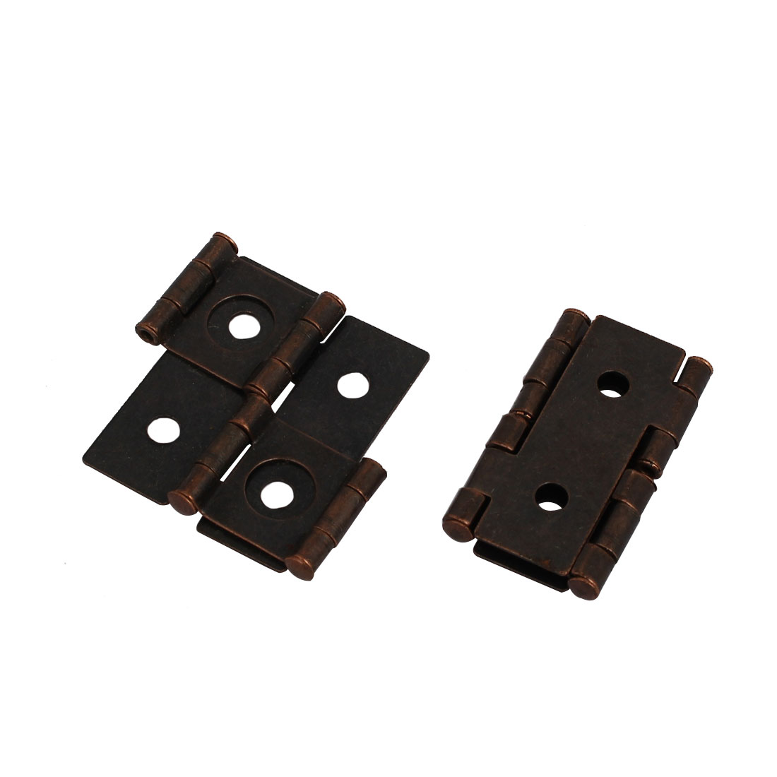 Cabinet Window Wardrobe Door  Metal Screen Hinge Copper Tone 2pcs