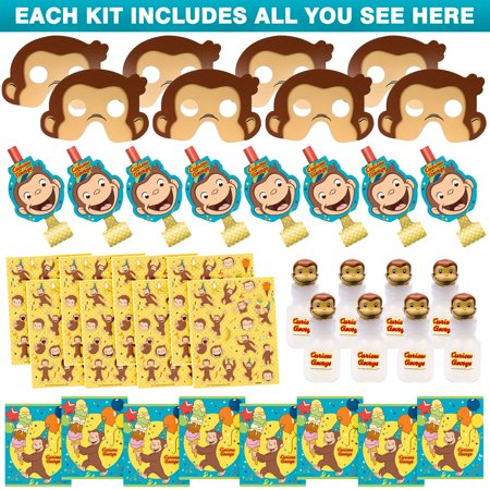 Curious George Favor Kit (For 8 Guests)](Curious George Party Ideas)