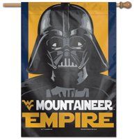 "West Virginia Mountaineers WinCraft 28"" x 40"" Star Wars Empire Single-Sided Vertical Banner"