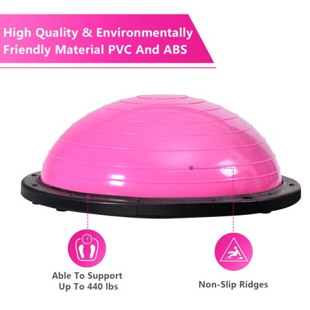 """23"""" Pink Yoga Ball Balance Trainer w/ Pump Home Exercise Training Fitness - image 6 of 10"""