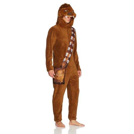 Star Wars Look Like Chewbacca Hooded Fleece Union Suit PJ