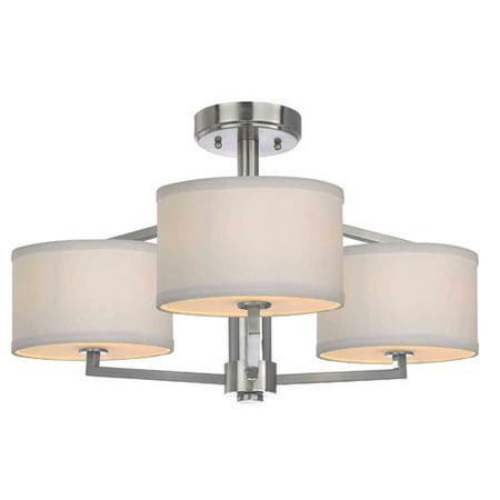 - Dolan Designs Monaco 3-Light Semi-Flush Mount