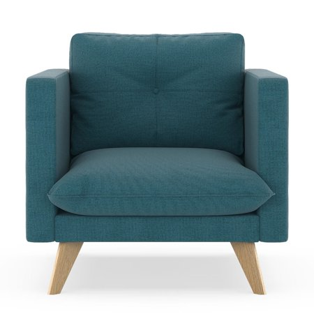 Aegean Weave Fish - Jensen Armchair Oxford Weave - Aegean Blue