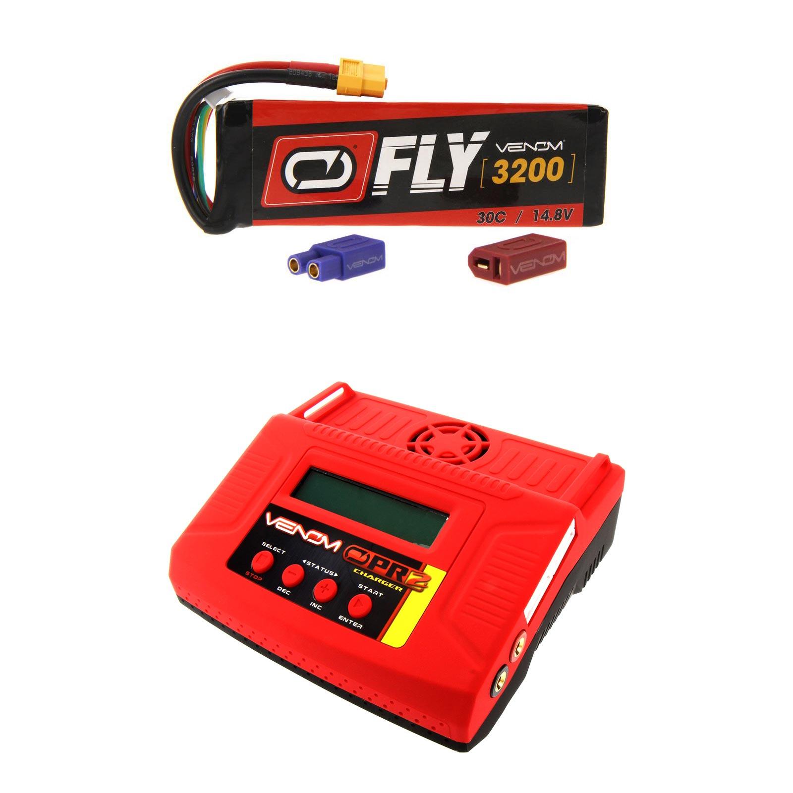 Venom Fly 30C 4S 3200mAh 14.8V LiPo Battery with UNI 2.0 Plug and Venom Pro 2 LiPo Battery & NiMH Battery Charger Money... by Venom