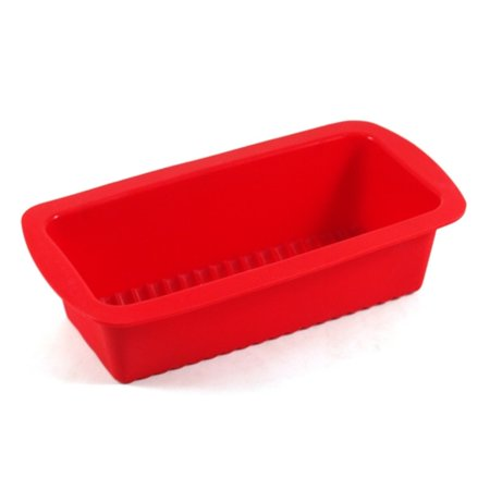 Harold Import Company Silicone 9 In. Loaf Pan, Red (Hand Wash Imported Halter)