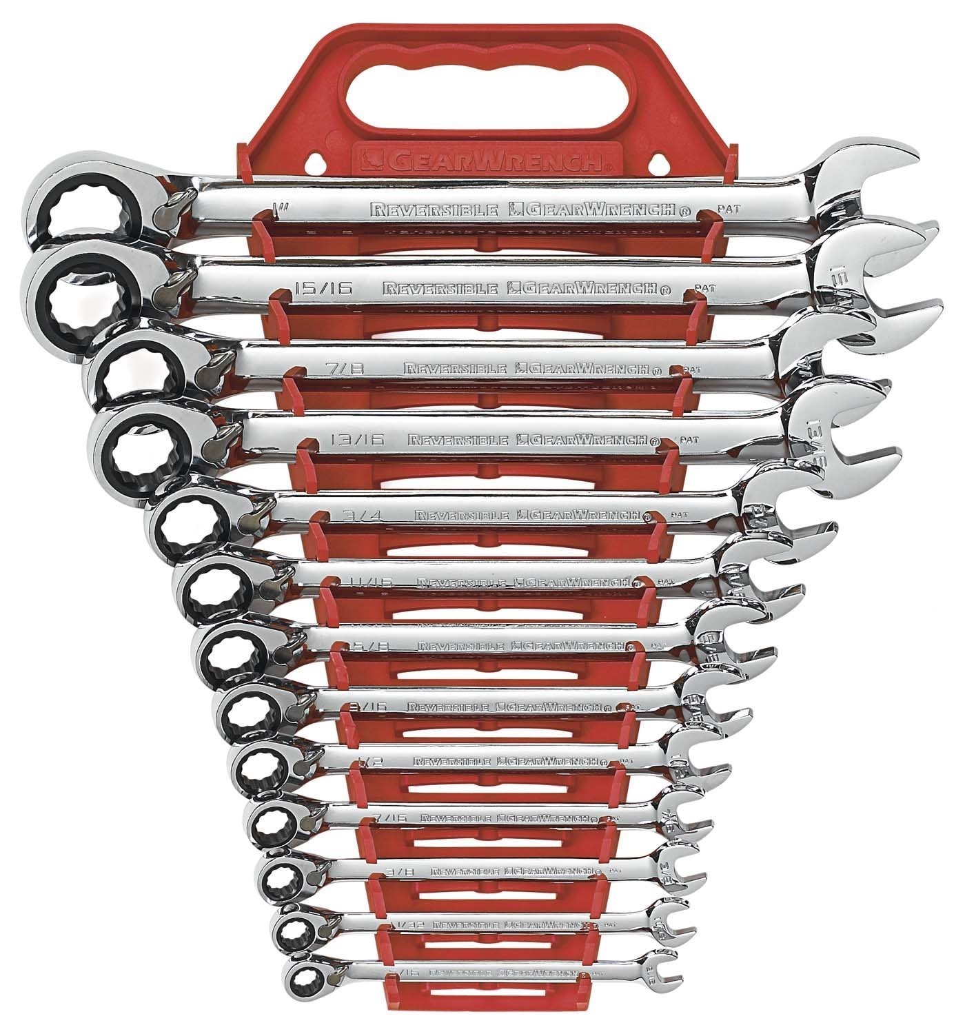 GearWrench 9509 13-Piece SAE Reversible Combination Ratcheting Wrench Set