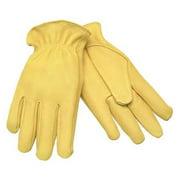 MCR SAFETY 3500XL Leather Palm Gloves,Deerskin,XL,PR