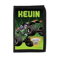Personalized Monster Jam Grave Digger Black Wallet