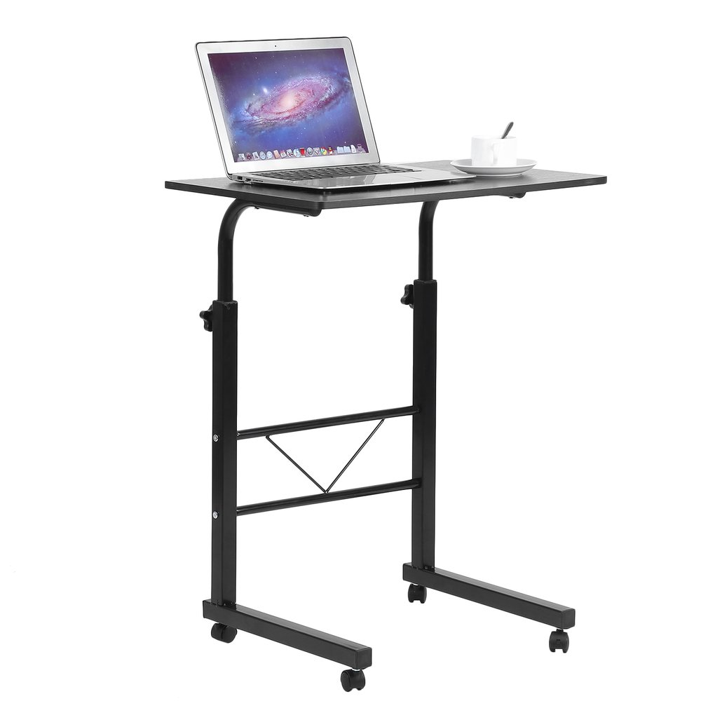 Adjustable Rolling Laptop Desk Cart Over Bed Hospital Table Stand Laptop  Tray Table For Bed