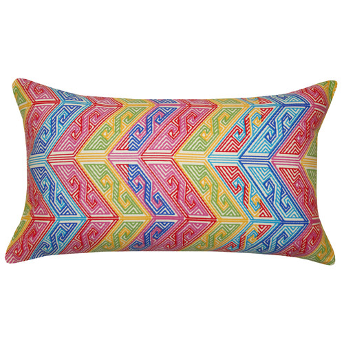 Divine Designs Aztec Cotton Lumbar Pillow