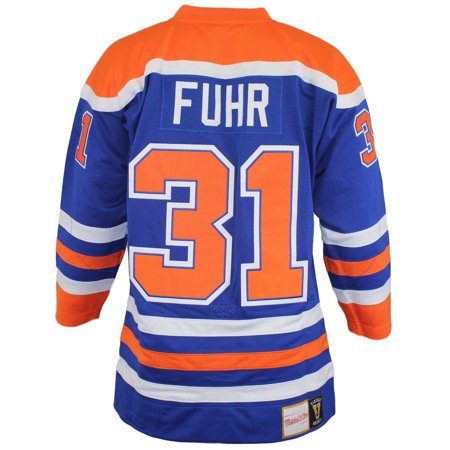 Grant Fuhr Edmonton Oilers Mitchell & Ness Authentic 1986 Blue NHL Jersey by