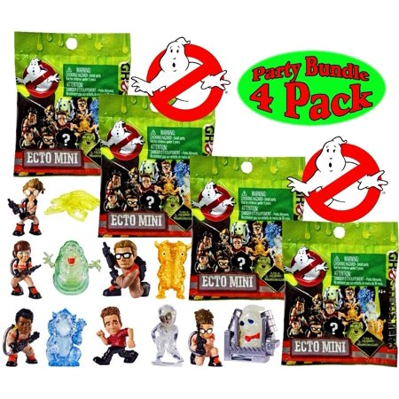 Ghostbusters Ecto Minis Blind Bags 4-pack Glow in Dark Ghosts Mystery Figures Mattel DRR944PK