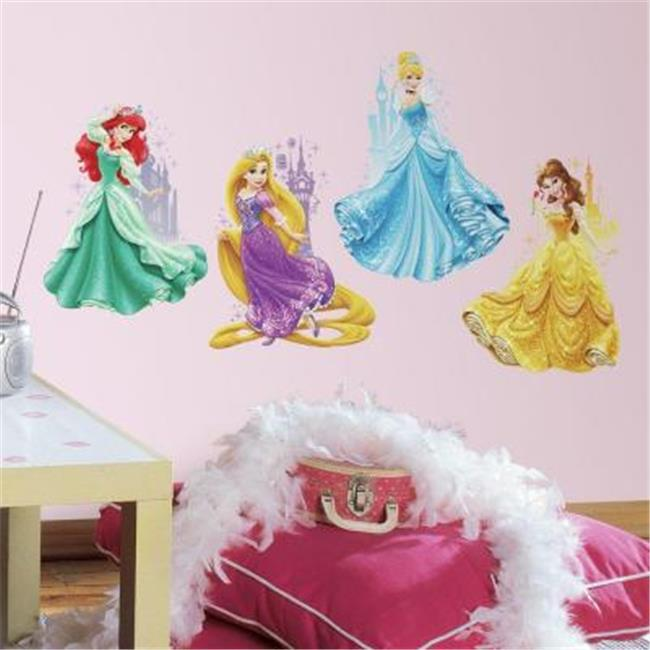Roommates RMK2772TB Disney Princesses And Castles Peel And Stick Giant Wall Decals