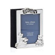 2x3 Silver-Plated Purse Bag Wallet Size Baby Newborn Infant Photo Picture Album Book, Holds Up to 50 Photos