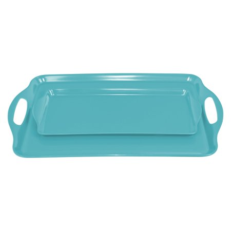 Calypso Basics, Tray Set(Tidbit & Rectangular), - Red Twin Tray