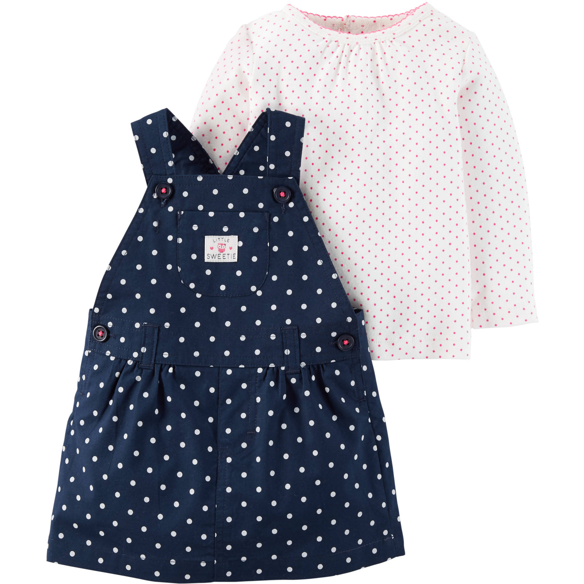 Child of Mine by Carter's Newborn Baby Girl Jumper Dress Set 2 Pieces