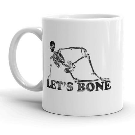 Lets Bone Mug Funny Skeleton Halloween Coffee Cup - 11oz - Funny Bones Halloween Song