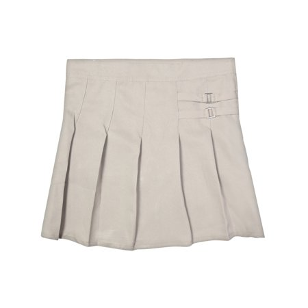 Girls' School Uniform Pleated Scooter With Side Buckle - School Girl Miniskirt