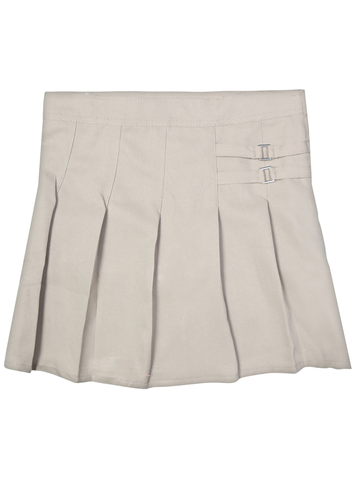 Girls' School Uniform Pleated Scooter With Side Buckle
