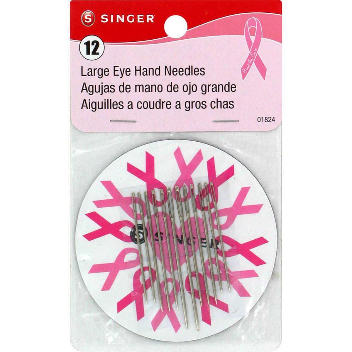 Singer Large Eye Hand Needles W/Magnet-Assorted 12/Pkg