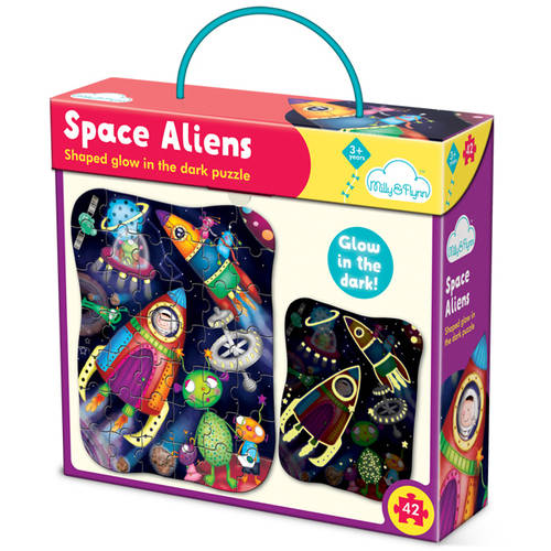 Milly & Flynn Space Aliens Glow Puzzle